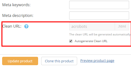 Autogenerate Clean URL
