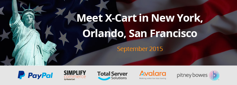 Meet X-Cart team in New York, Orlando and San Francisco this September