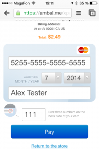 X-Payments mobile checkout