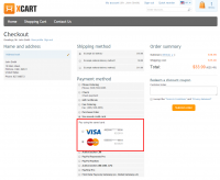 Select saved credit card on checkout: customer interface