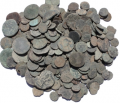 Low Grade Uncleaned Spanish found Ancient Roman Coins