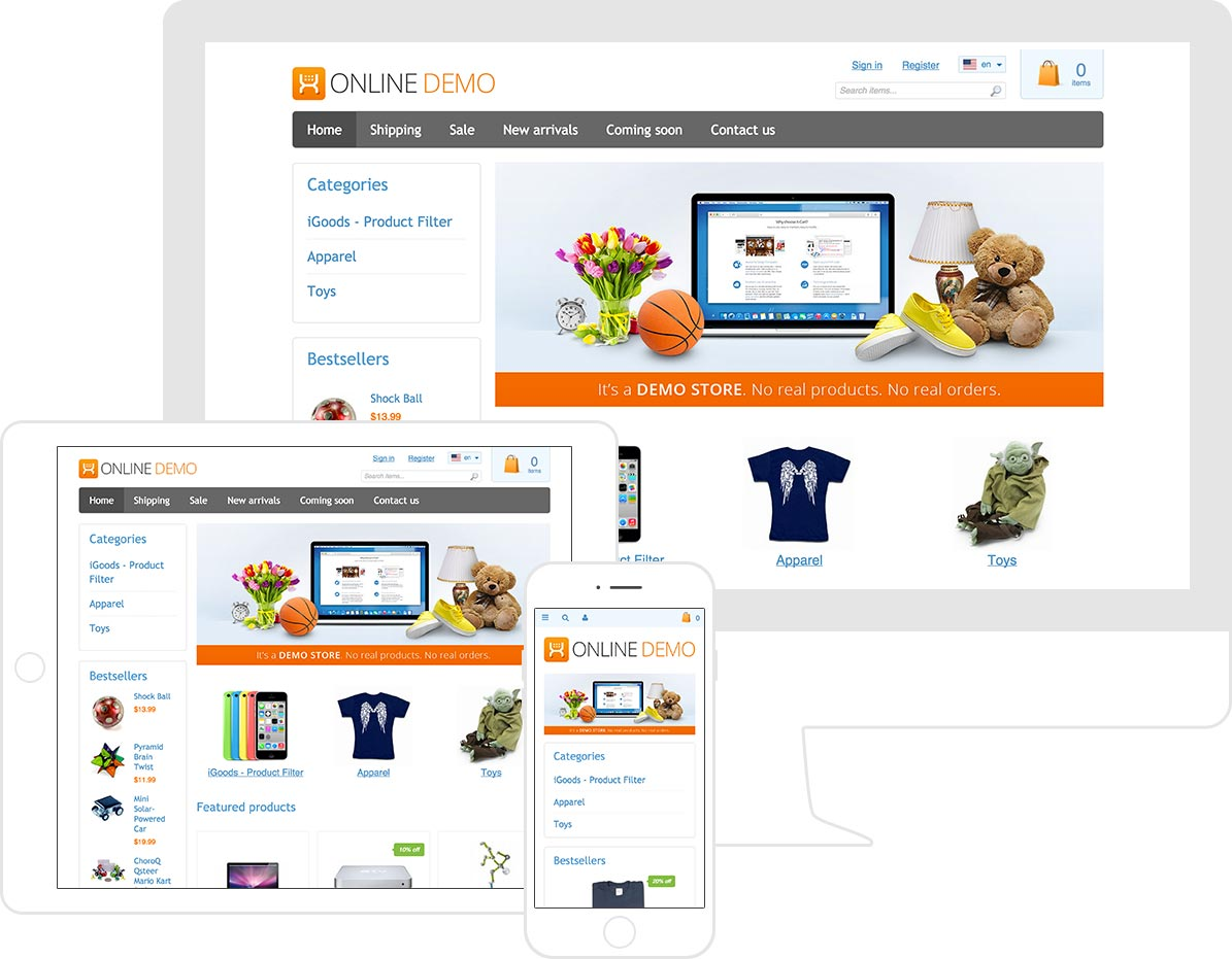 Get all essential features you need to start your online store - today!
