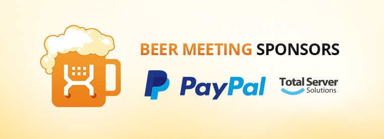 Beer Meeting'14 sponsors: PayPal and Total Server Solutions