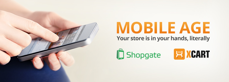 Meet Shopgate: Beautiful mobile website and apps for your X-Cart 5 based store.
