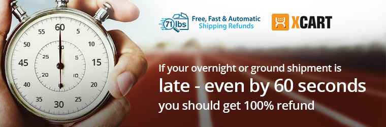 FedEx and UPS users: If your overnight or ground shipment is late, even by 60 seconds, you should get 100% of your money back. Read how.
