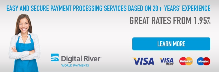 Digital River World Payments: two in one (Payment Gateway and Merchant account) and special attractive rates for X-Cart merchants!