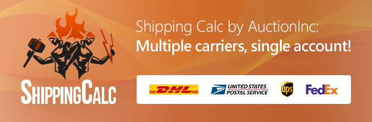Accurate Multi-Carrier Real-Time Shipping Rates, Built In! Shippingcalc by Auctioninc in X-Cart 5.