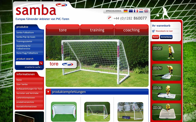 Samba Europe Homepage