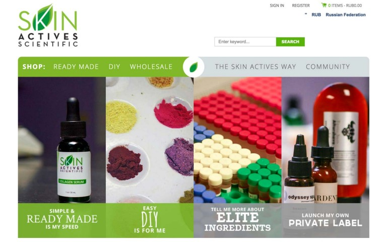 Skin Active Scientific Homepage
