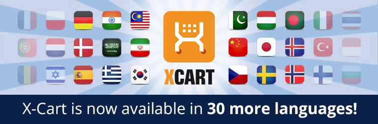 Pick the Language for your X-Cart 5 Store with 30 New Translation Modules
