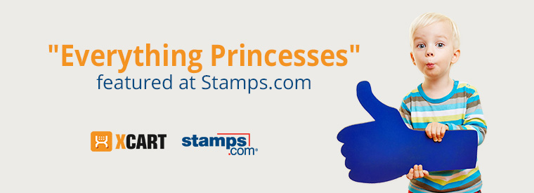 """WOW, """"Everything Princesses"""" featured at Stamps.com!"""