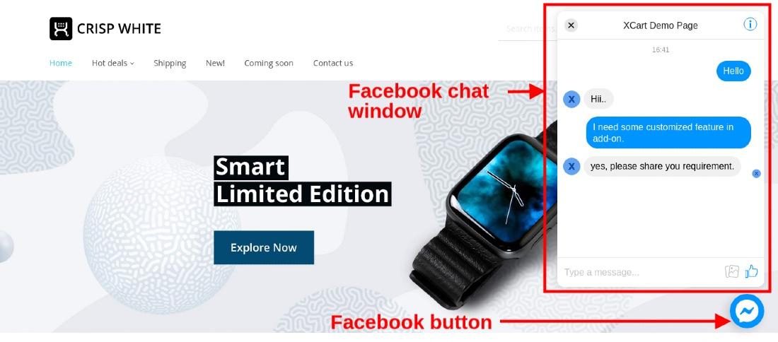 X-Cart Integration with Facebook Messenger