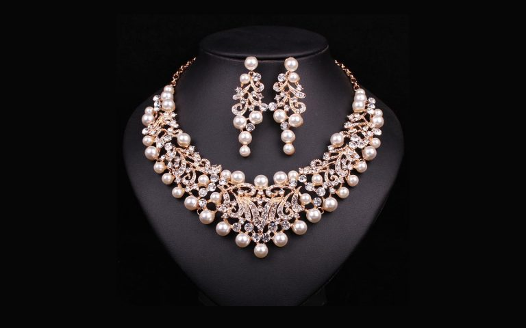Pearls Only Necklace and Earrings Set