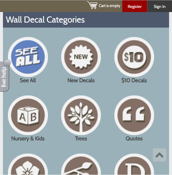Dali Decals Uses Mobile App Icons