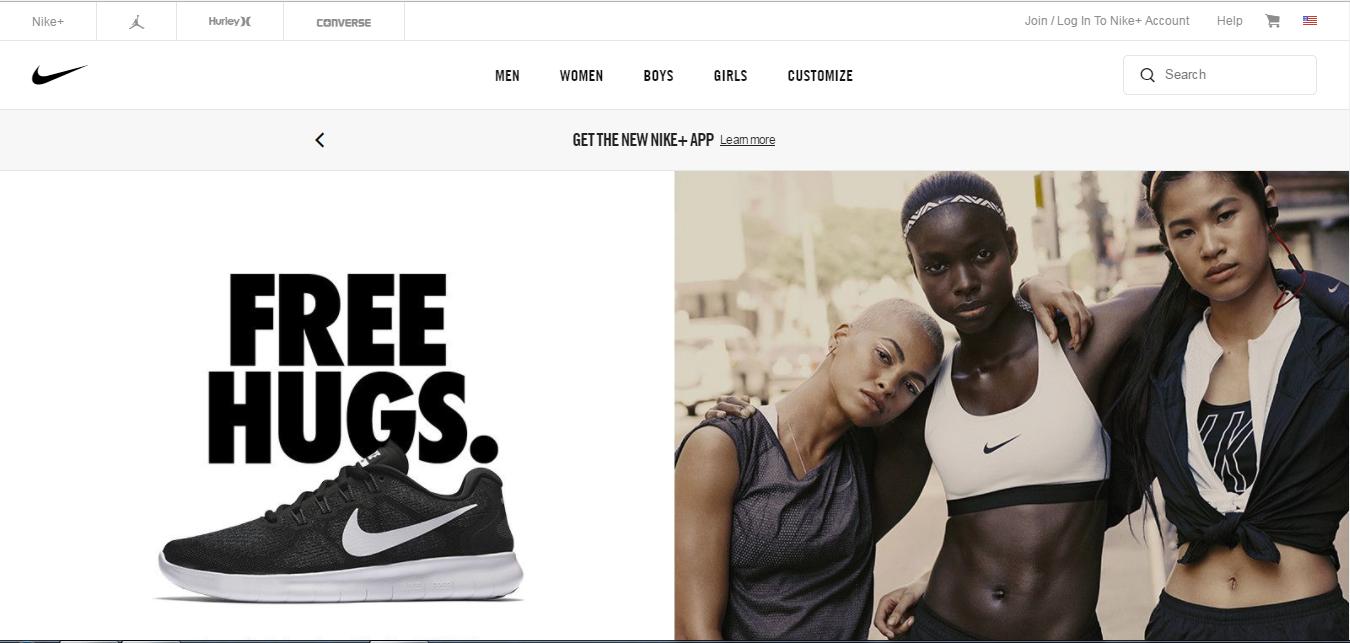 Nike Desktop Site