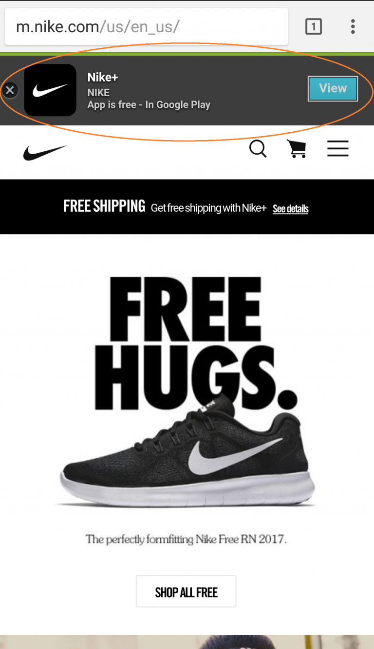Nike Mobile Site