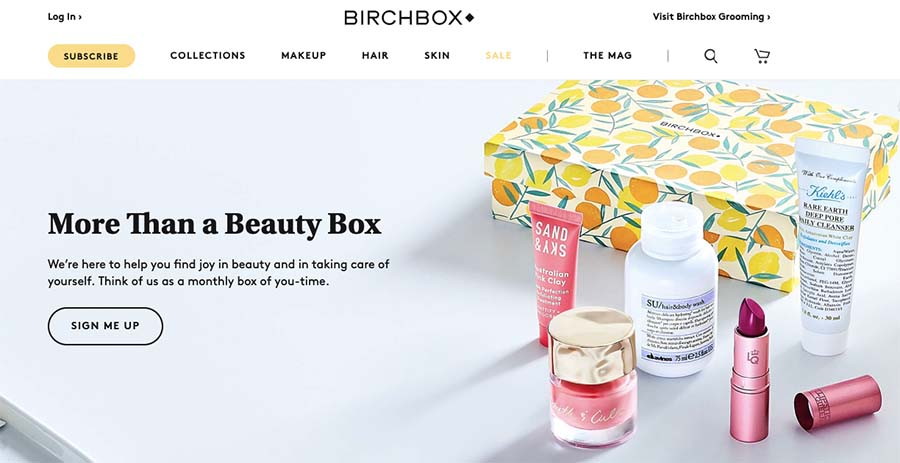 BirchbBox signup form design