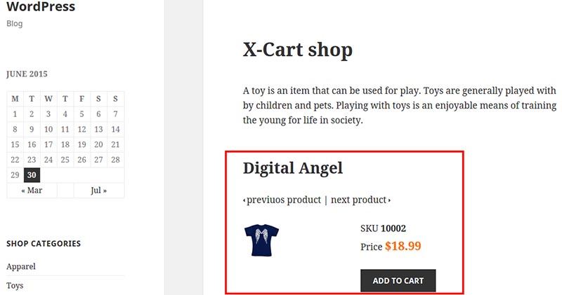 Add X-Cart to WordPress