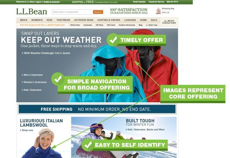 UX-Best-Practices-LL-Bean-Home