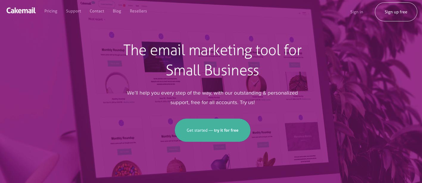CakeMail email marketing software