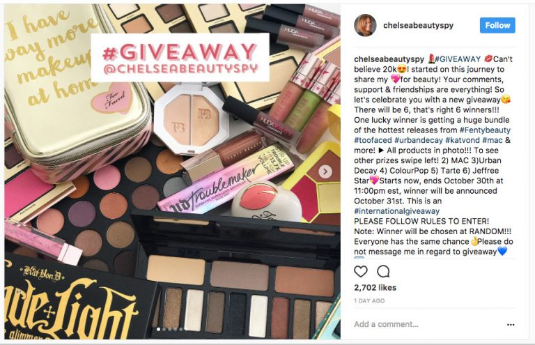 #Giveaway @chelseabeautystyle