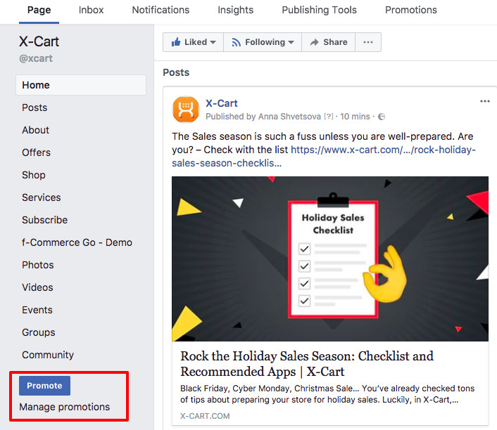 Setting up Instagram ads in Facebook