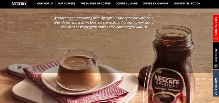 Neskafe Dark web design color