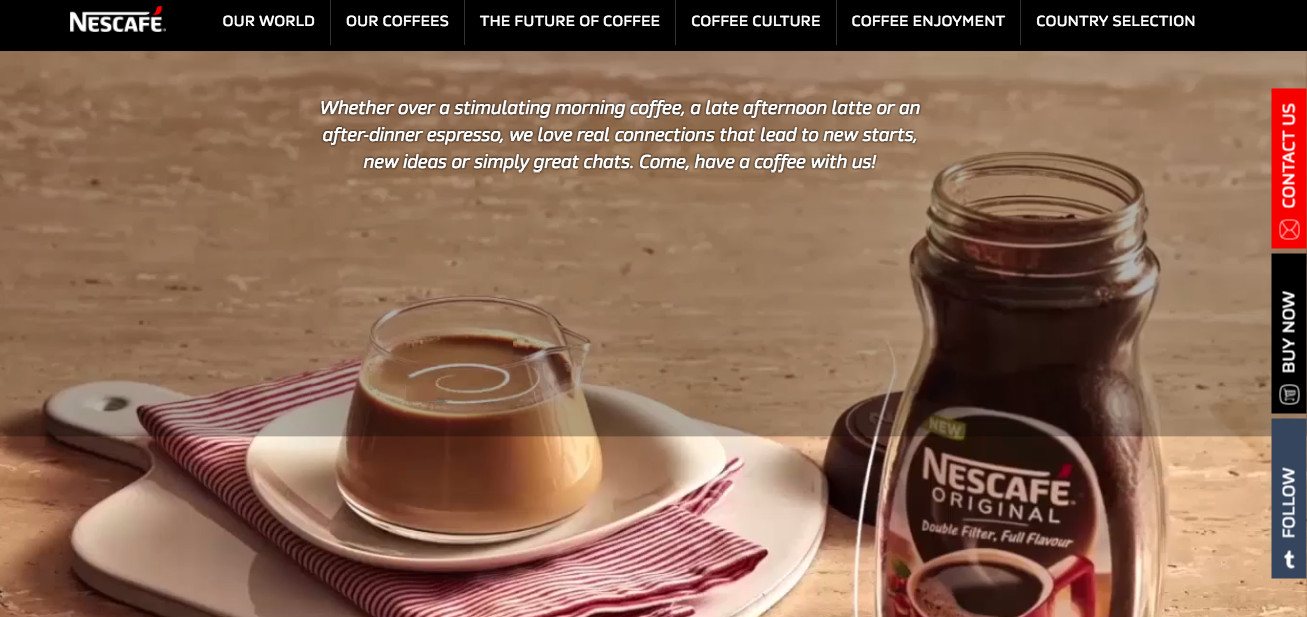 Nescafe site
