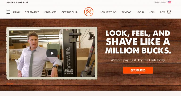 Dollar Shave Club Website Color Scheme