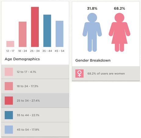 Pinterest gender demographics