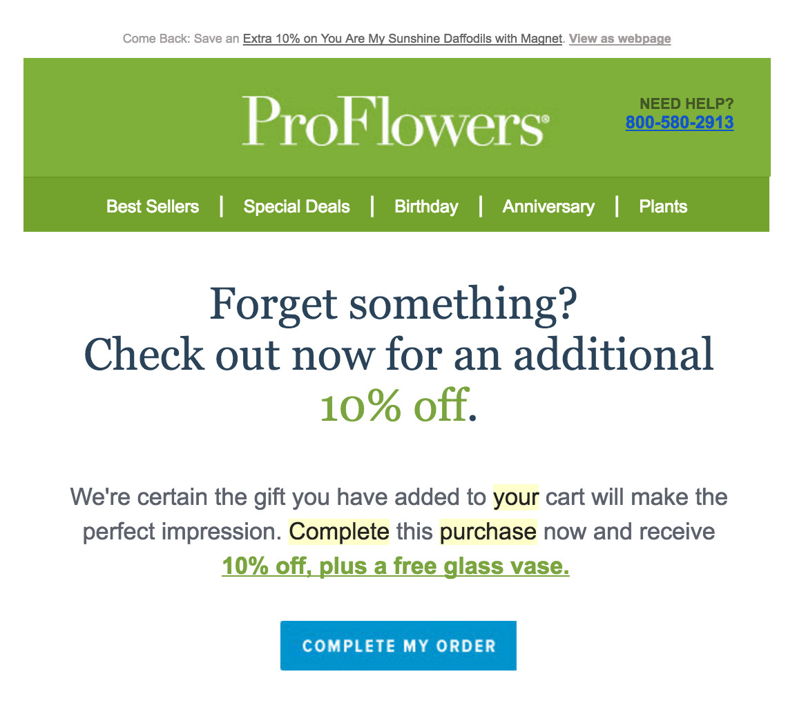 ProFlowers heads-up