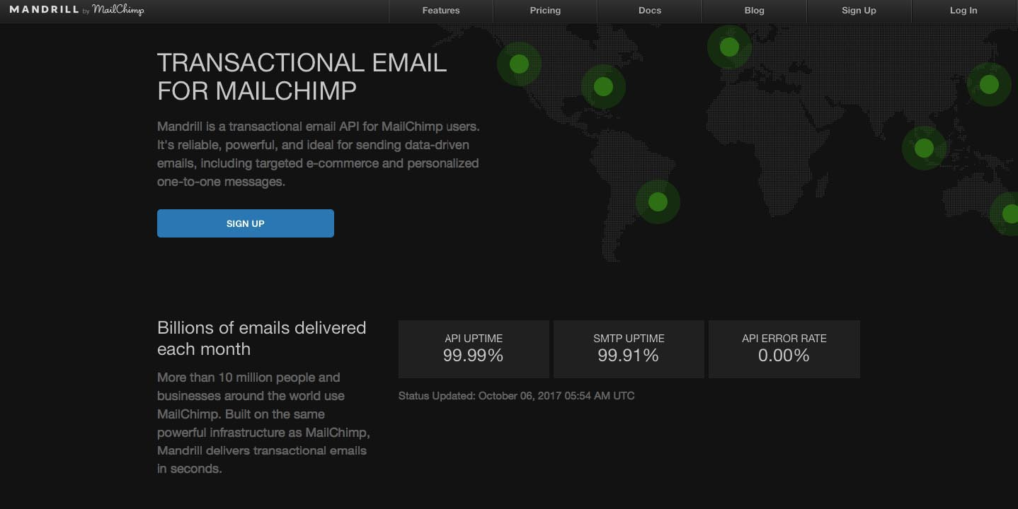 Mandrill transactional email service