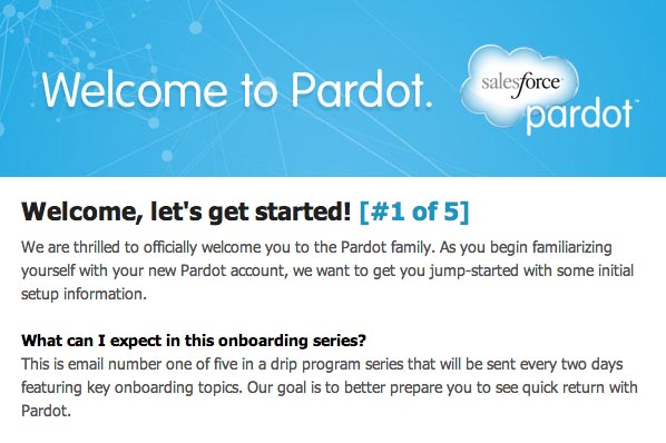 Pardot email sequence
