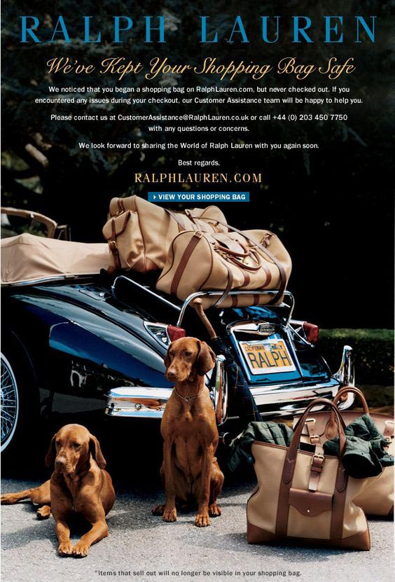 Ralph Lauren abandoned cart