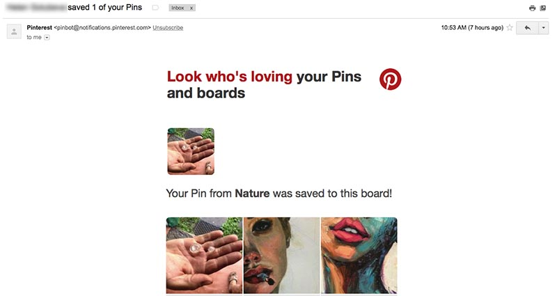 Email from Pinterest