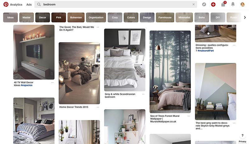 vertically aligned images on Pinterest