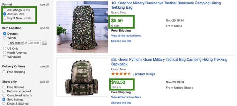 Auction system on Ebay