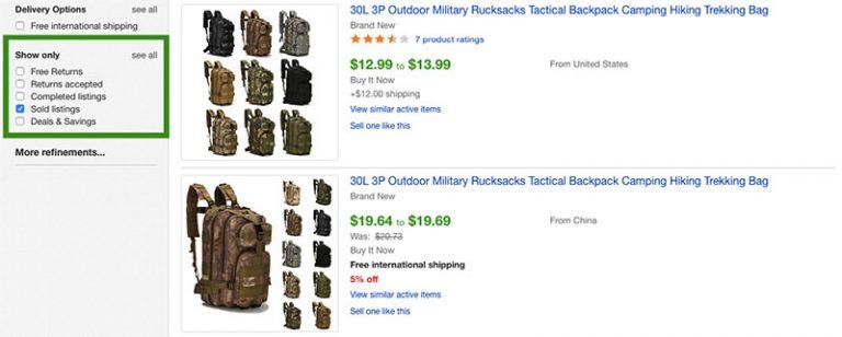 Sold_listings on Ebay