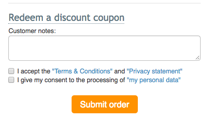 Consent checkbox on checkout in X-Cart 4