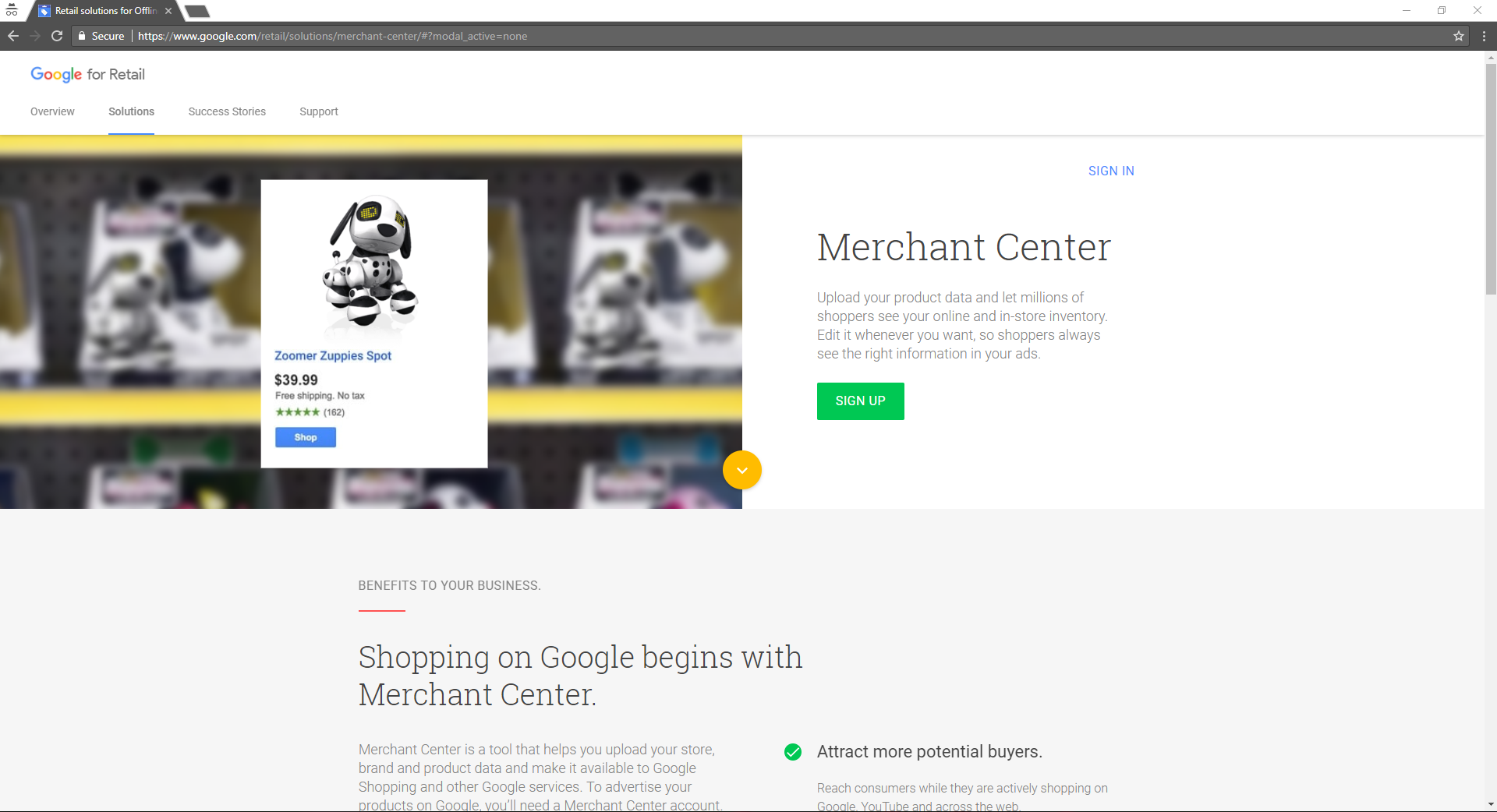 Creating Google Merchant Center Account