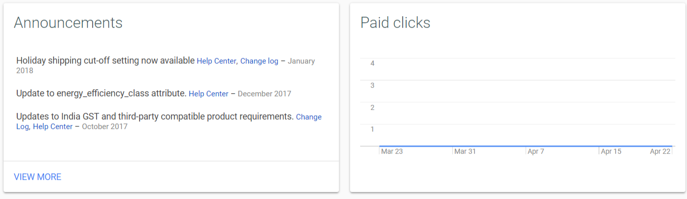 Announcements and Clicks