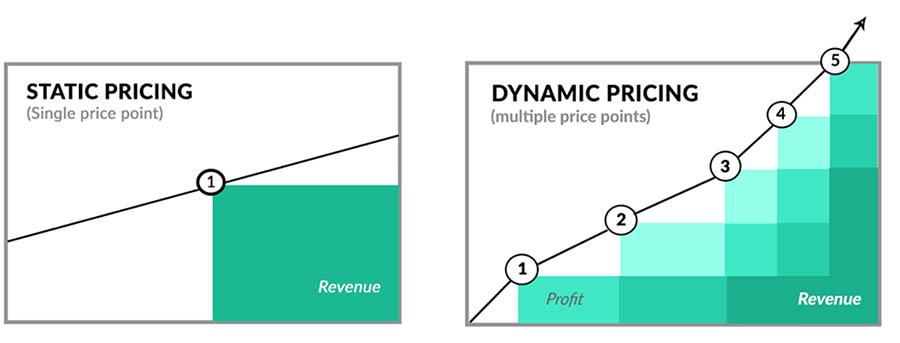 Static pricing and dynamic pricing