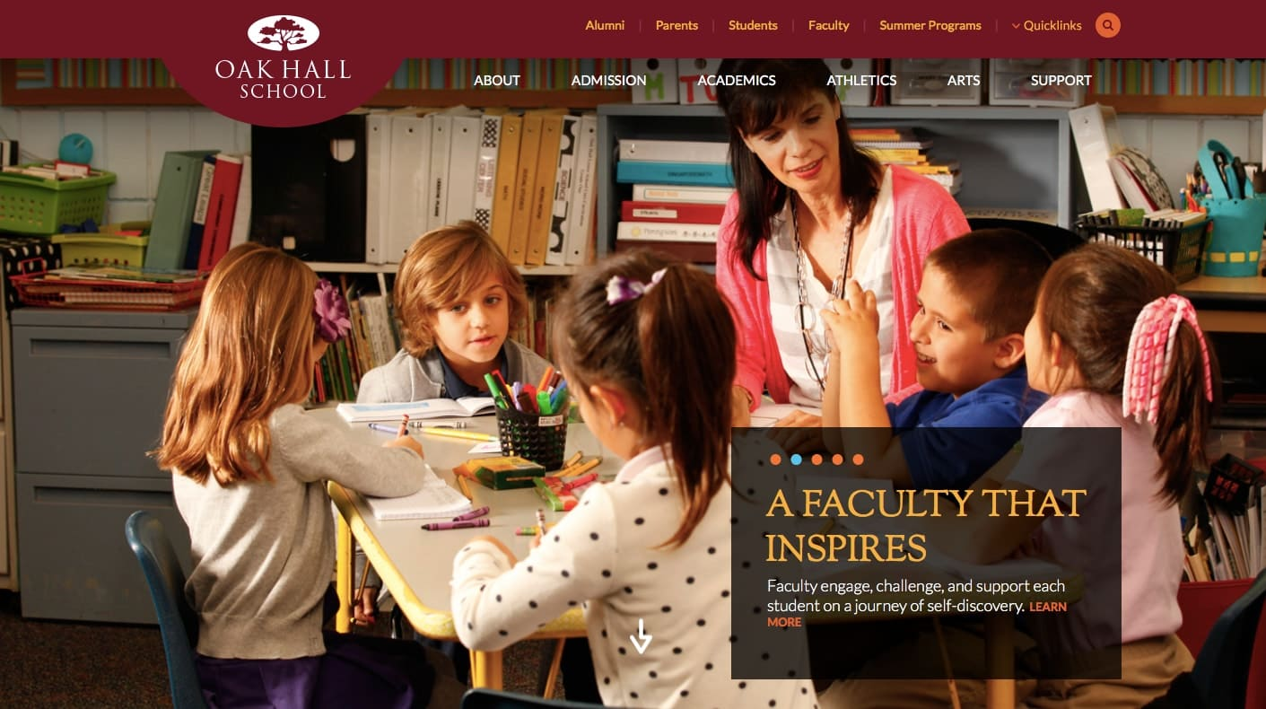 Oak Hall School Website
