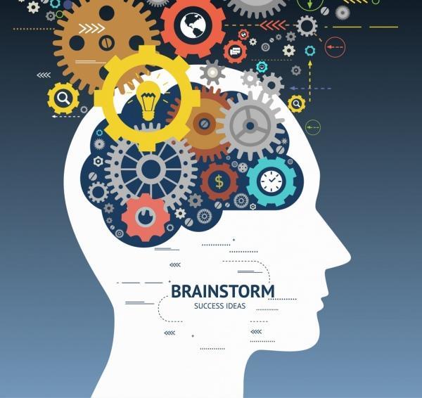 Brainstorm process illustration