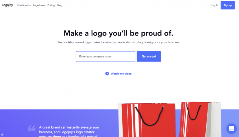 Logojoy logo maker