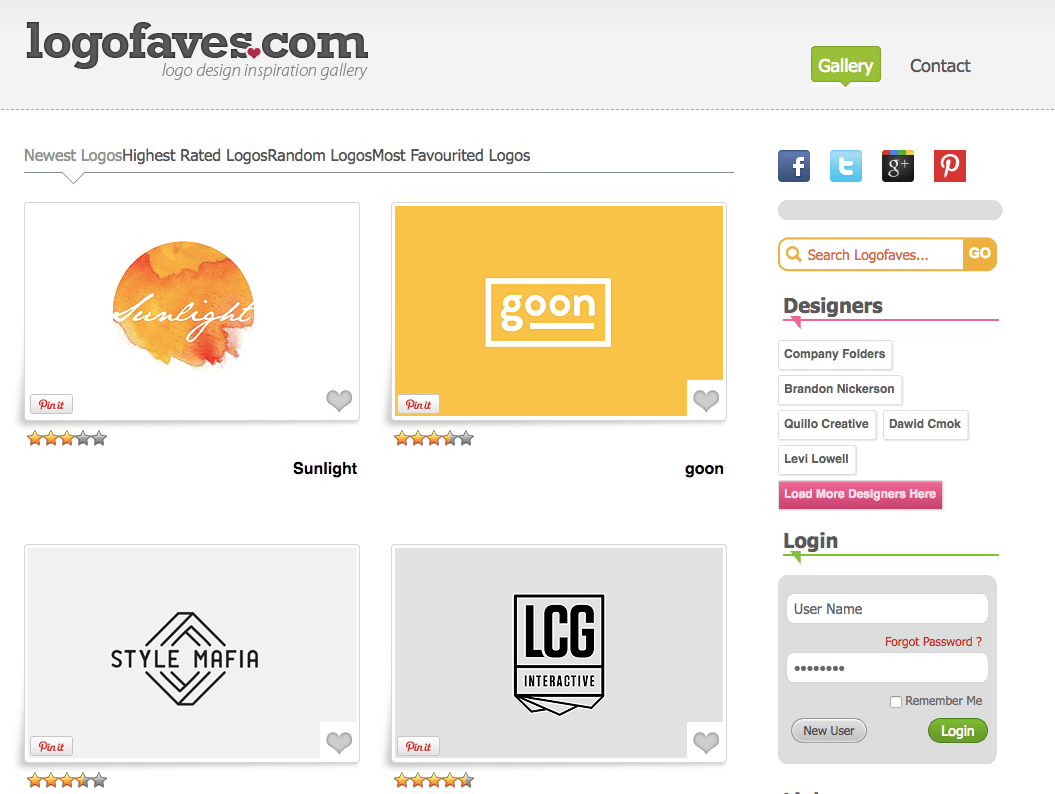 logofaves logo design website