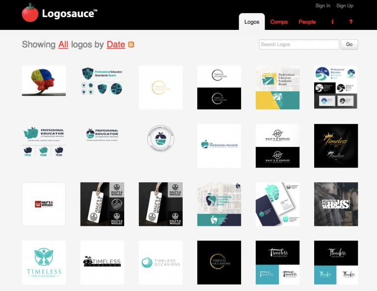 Logosauce logo inspiration site