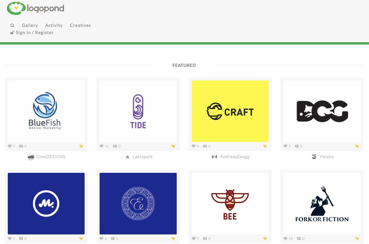 Logopond logo inspiration site