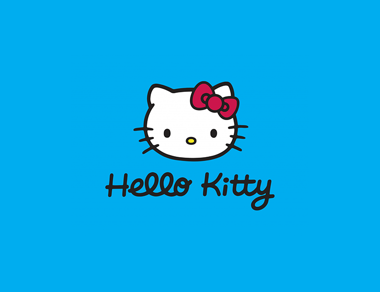 Hello Kitty brand logo design