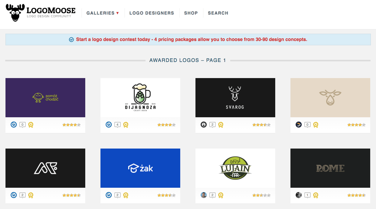 LogoMoose logo design website